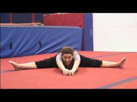 Gymnastics Stretches and Warm Ups : How to do a Pancake Gymnastics Stretch